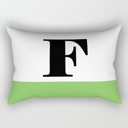 Monogram Letter F (color block) Rectangular Pillow