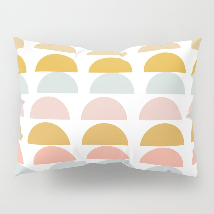 Abstract Half Moon Half Circles Pillow Sham