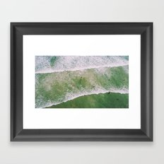 Waves bath Framed Art Print