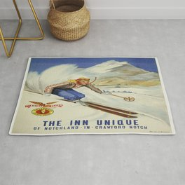 Vintage poster - Crawford Notch, New Hampshire Rug