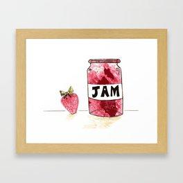 Strawberry VS Jam Framed Art Print