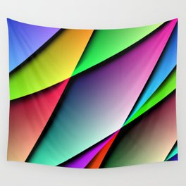 Triangle Gradient Colorful Design Wall Tapestry