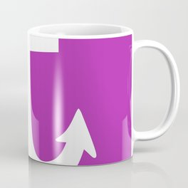 Anchor (White & Purple) Coffee Mug