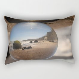 Beach Ball refraction photography with crystal ball Rectangular Pillow