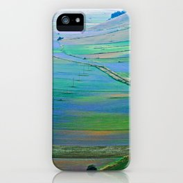 Plain of Castelluccio seen from above iPhone Case
