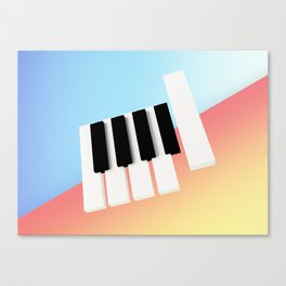 Piano Roll Canvas Print