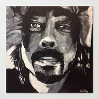 dave grohl Canvas Prints featuring Dave Grohl by Matt Hortop