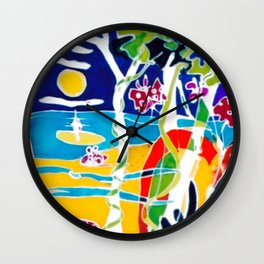 An Aussie kinda of a Day!        by Kay Lipton Wall Clock