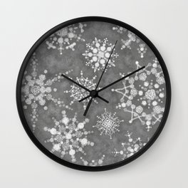 Winter Snowflakes Wall Clock