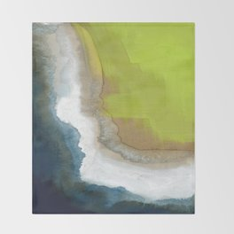 Surf Abstraction Throw Blanket