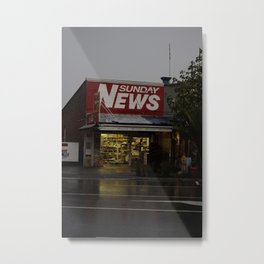 Sunday News Metal Print