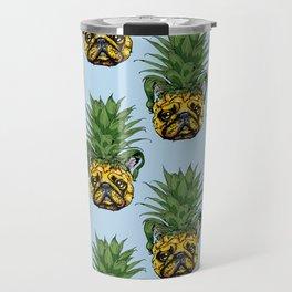 Pineapple French Bulldog Travel Mug