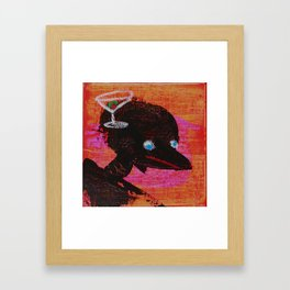 I JUST KNOW I HAD A BEVERAGE HERE SOMEWHERE. Framed Art Print