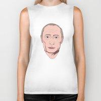 putin Biker Tanks featuring Putin by Ricardo Miranda Zuniga