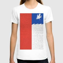 Extruded Flag of Chile T-shirt