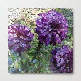 Sticky Notes, flowers Metal Print