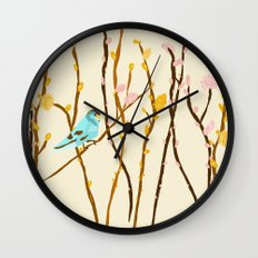 Pussywillow Landscape Wall Clock