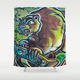 Skateboarding Bear Shower Curtain