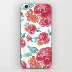Pastel Spring Flowers Watercolor iPhone & iPod Skin
