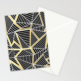 Ab Lines 2 Gold Stationery Cards