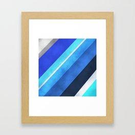 Parallel Blues Framed Art Print