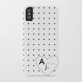 Artificial Black Hearts iPhone Case