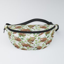 Red Panda Pattern Fanny Pack