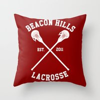 lacrosse Throw Pillows featuring Beacon Hills Lacrosse by Meg!