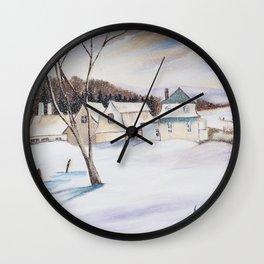 Diane L - Mon enfance Wall Clock