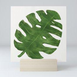 Monstera Leaf Mini Art Print