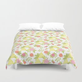 Garden of Power, Wisdom, and Courage Pattern Duvet Cover