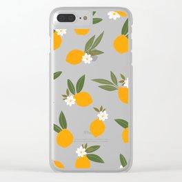 Cute Oranges Clear iPhone Case