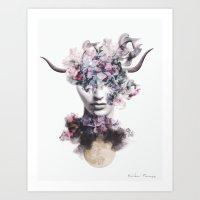 Full moon in Taurus Art Print