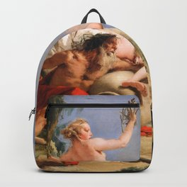 Oil Painting Apollo Pursuing Daphne by Giovanni Battista Tiepolo Backpack