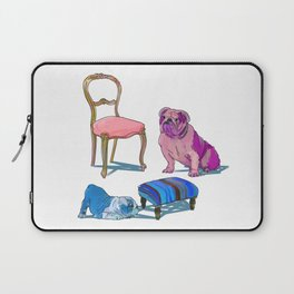 animals with chairs #2 Socializing Laptop Sleeve