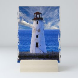 Lighthouse on Narrow Land Mini Art Print