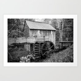 Cable Mill - Old Mill in Great Smoky Mountains Art Print