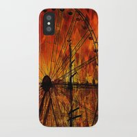 ferris wheel iPhone & iPod Cases featuring Ferris wheel by  Agostino Lo Coco