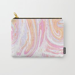 Pink-orange marble pattern Carry-All Pouch