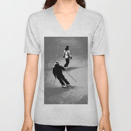 Skiing and Snowboarding Winter Fun Unisex V-Neck