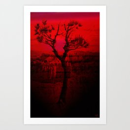 Red Chasm Art Print