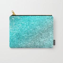 Aqua Teal Ocean Glitter #1 #shiny #decor #art #society6 Carry-All Pouch