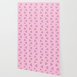 Impossible Triangles - Pink Wallpaper