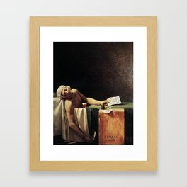 Death of Marat by - Jacques-Louis David Framed Art Print