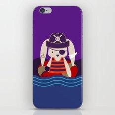Pirate Bunny Needs Coffee iPhone & iPod Skin