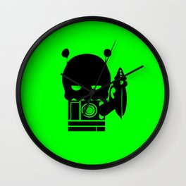Alien Indifference Wall Clock