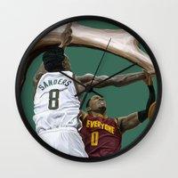larry Wall Clocks featuring Larry Sanders by Jen Hynds