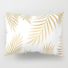Gold palm leaves Pillow Sham