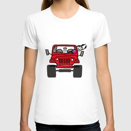 Jeep Wave Girl - Red T-shirt
