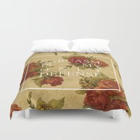 sarcasm Duvet Covers featuring sarcasm is my only defense by bitchyvulcans